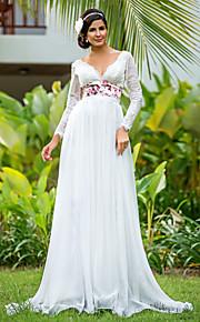 Lanting Bride® Fourreau / Colonne Petites Tailles / Grandes Tailles Robe de Mariage - Chic & Moderne / Brillant & Séduisant Longueur Sol