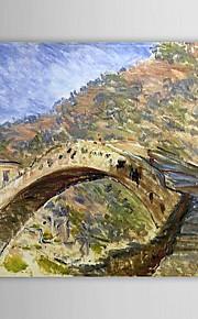 Peinture à l'huile célèbre pont de Dolceacqua par Claude Monet