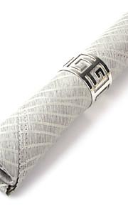 Sæt med 4 Moderne Grå Polyester Servietter