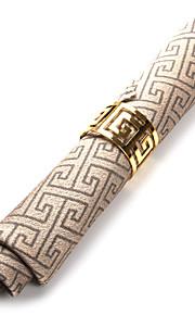 Sæt med 4 Kaffebar ærgre mønster Polyester Servietter