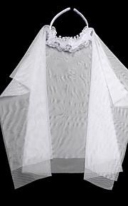 נערת פרחים סאטן / תחרה כיסוי ראש-חתונה / אירוע מיוחד Birdcage Veils