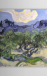 Famous Oil Painting the Alpilles with Olive Trees in the Foreground by Van Gogh