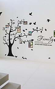 photo mur à ossature arbres autocollants fleurs de vie botaniques stickers muraux lavables