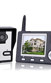trådløs nattesyn kamera + 3,5 tommer dørtelefon skærm