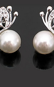 Stud Earrings Women's Alloy Earring Imitation Pearl