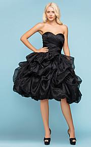 Robe de Mariage - Noir (couleur & style nuançables selon l'affichage) Robe de Bal Col en Cœur Genou Genou Grandes Tailles