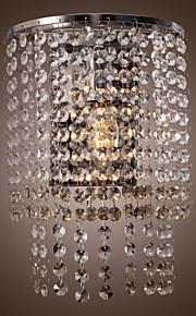 contemporaine de cristal murale avec 1 lumière