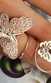 Frauen Doppel-Schmetterling-förmige Ringe (gelegentliche Farbe)