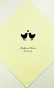 Boda Personalizados Lovebirds Servilletas (más colores) Juego de 100