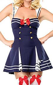 cool i sexy biała niebieska dwurzędowa jednolity żeglarz poliester