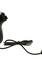 Wired Nunchuck Game Controller til Nintendo Wii / Wii U (sort + hvid)