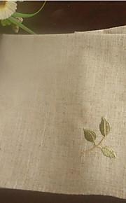 Grecia Olive bordado sucursales servilletas conjunto de 6