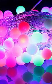 [Newyearsale] 50-ledede 9m vanntett eu plug utendørs julen ferie dekorasjon rgb lys ledet streng lys (220v)