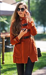 TS Stehkragen Buttons Tweed Coat