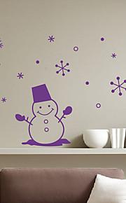 Holiday Joulu Hymyilevä Lumiukko Wall Tarrat