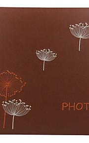 "Couro Floral 4 ""* 6"" Photo Album (600 bolso)"