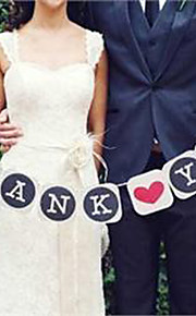 """結婚式の装飾ヴィンテージバナーを """"ありがとう"""" - 9個のセット"""