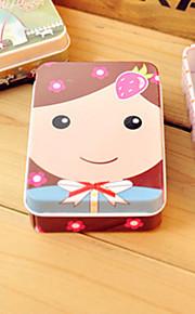 Rectangle Girl Pattern Tin Box
