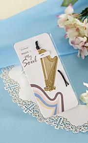 Golden Harp Bookmark with Hide Rope