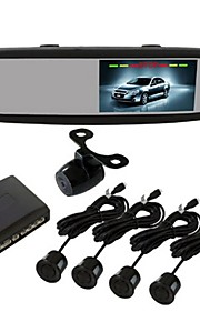 Button Screen Video Hot 4.3 pollici Universale Parking System Car Touch Sensor Control.Two ingresso video