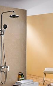 Rain Shower moderna finitura cromata in ottone a tre fori maniglia rubinetto doccia Set
