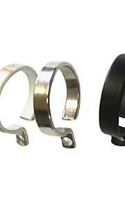 Moderne Solid Minimalist Solid Ringent Clip Ring - 10stk (diameter 2,6 cm)