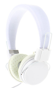 Ep05 Fasjonable 3,5 mm På-øret hodetelefoner med mikrofon (Hvit)