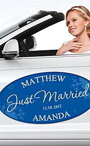 Personalized Snowflake Wedding Window/Car Cling (More Colors) Peacock Wedding