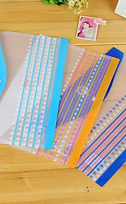 Fashion Simple Design Transparent A4 File Bag