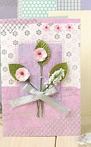 Lilac Vertical Side Fold Greeting Card with Flower and Bow
