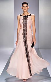 Formal Evening/Prom/Military Ball Dress - Pearl Pink Plus Sizes Trumpet/Mermaid Bateau Floor-length Chiffon