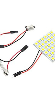 5050 SMD 36 LED Warm Wit Dome Bulb Licht voor Auto-interieur met 3 Adapters