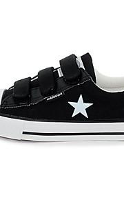 Chaussures WARRIOR unisexe Pure Color étoile à cinq branches Velcro faible toile