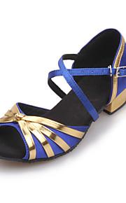Femmes et Satin Stripe Croix Chunky Chaussures Sandales à talons de danse pour enfants (plus de couleurs)
