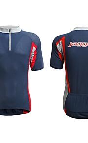 Jaggad été d'hommes Spandex caoutchouc Imprimer Logo arrière Pocket vélo Jersey