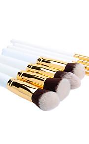 8PCS Wooden Handle Makeup Brush Set with Black Cylinder Tube (More Color)