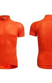 poche arrière de polyester de couleur pure d'été cyclisme Maillot manches courtes des hommes jaggad - l'orange