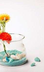 tabellen center fairshaped glass vase bord deocrations (sand inkludert, blomster ikke inkludert)