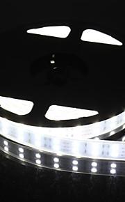 double rangée 600x5050 SMD 144W 6000lm IP67 étanche lumière blanche a mené la lumière de bande (5 mètres 12v / cc)