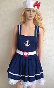 Navy Blue Polyester Dress Sailor Uniform (2 szt.)