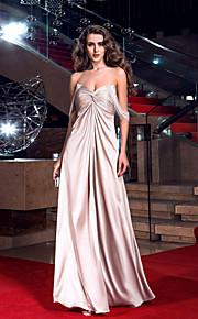 Formal Evening/Prom/Military Ball Dress Plus Sizes Sheath/Column Sweetheart Floor-length Stretch Satin