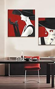 Toiles d'art populaire La Tentation de rouge à lèvres Ensemble de 2