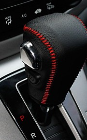 XuJi ™ Black Genuine Leather Gear Shift Knob Cover for Honda CRV CRV-V 2012 2013 Automatic