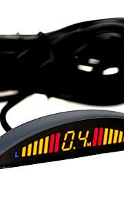 Sensore di parcheggio con 4 radar + Display a LED TS32 (037, Nero)