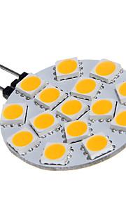 G4 15x5060SMD 3W 15LED lampada bianca calda lampadina