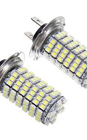 H7 6W 120x3528SMD LED de la bombilla del faro (2 unidades)