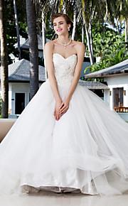 vestido de bola lanting además de los tamaños del vestido de boda - marfil palabra de longitud cariño charmeuse / satén stretch
