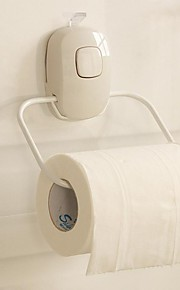 Orange® Contemporary Strong Suction Silicone Wall Mounted Toilet Roll Holder White 1Pcs