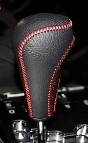XuJi ™ Black Genuine Leather Gear Shift Knob Cover for Ssangyong Korando Automatic