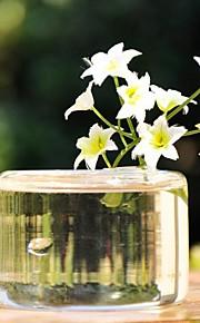 bordcenter gjennomsiktig glass vase bord deocrations (blomstene ikke inkludert)